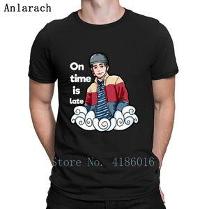 On Time Is Late Quote Meme Sex Education Funny T Shirt Slim Spring Cute Fashion Printing Tee Shirt Vintage Plus Size 5xl Shirt