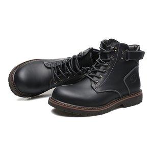 2019 Yeni satış Erkekler botları toptan gündelik deri botlar moda erkekler siyah kahverengi dropshipping açık Sneaker Boyutu 40-44 ayakkabı