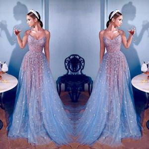 Gelinlik Modelleri Dantel Dubai Ünlü Sweetheart Boncuk Illusion Uzun Abiye Giyim Bir Çizgi Formal Yarışması Elbise