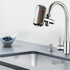 220V 3000W Tankless Electric Water Heater Faucet LCD Display 3s Instant Heating Tap
