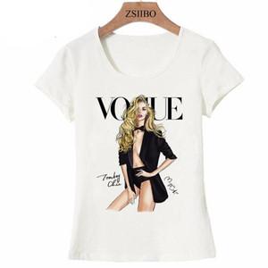 Vintage París mujeres camiseta linda damas novedad ocasional de la calle de invierno de la moda camiseta de la muchacha del verano tops inconformista fresco de la señora de las camisetas de LWC46