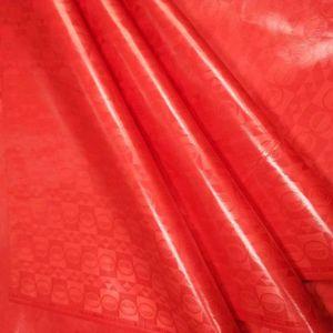 AFRICAN ATIKU hommes tissu bazin rouge tissu Brocade de haute qualité tissu Bazin Riche 5 mètres / pc Brocade Dentelle Riche
