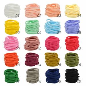 20 couleurs disponibles! Bandes de tête de nylon de bébé Baby filles, bandeau nylon nylon bronzéband Bandeau de cheveux, nylon élastique DIY bandeaux de bricolage en vrac, doux mince