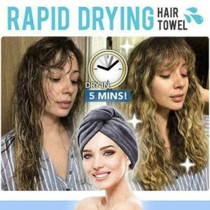 RAPID DRYING HAIR TOWEL Thick Absorbent Shower Cap Fast 5 Colours