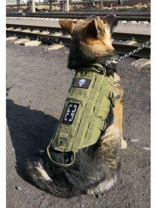 Hanwild Neue taktische Service-Hundeweste Training Jagd Molle Nylon Wasserabweisend Jagd Patrol Einstellbare Hundegeschirr Handl