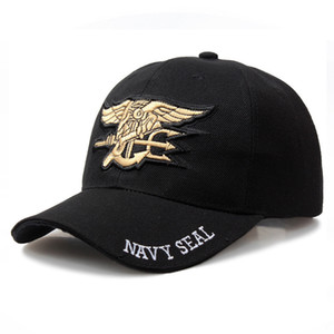 High Quality Mens Famous US NAVY Brand Baseball Cap Navy Seals Cap Tactical Army Cap Trucker Gorras Snapback Hat For Adult