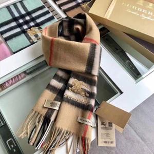 Moda-11Color Sıcak Tasarım Kadın Ve Erkek% 100 Cashmere Ekose Eşarp Lüks Sha30 Moda İçin Sonbahar Ve Kış Çift Taraflı el çantası ile