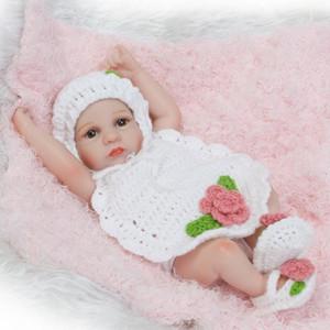 NPK nouveau premie nouveau-né mignon petit 12inch vinyle souple en silicone douce réelle douce poupée reborn bébé cadeau de Noël