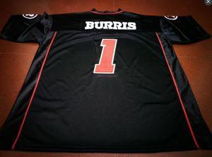 Uomo-donne Ottawa RedBlacks Vintage gioventù # 1 Henry Burris del calcio Jersey formato s-4XL o personalizzato qualsiasi nome o numero di maglia