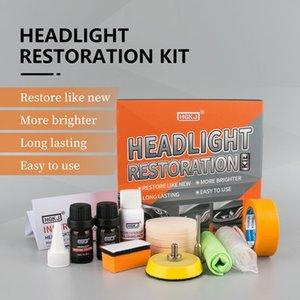 La linterna del coche Reparación recauchutado Restauración Light Kit Car Cleaner lámpara de faro de reparación limpieza del limpiador de cristal de ventana