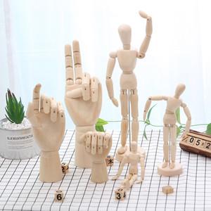 Ahşap Hareketli Organlar İnsan Figürü Modeli Sanatçı Kroki Çizim Modu