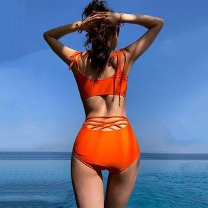 EtCMv 2019 Xia Mengqi one-piece women's swimsuit sexy cross tie 2019 Xia Mengqi one-piece women's Bikini sling swimsuit sexy sling cross tie