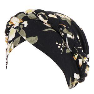 Frauen-Blumen Braid Indien Hat Muslim Ruffle Cancer Chemo Beanie Turban Wrap Cap Hüte für Frauen Sommerhut Sonnenhut hohe Qualität