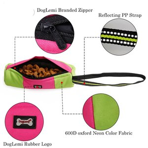 New Snack Bag Portable Outdoor Pet Dog Treat Pouch Puppy Dog Training Snack Reward Waist Bag Bite Assistance Oxford Bags