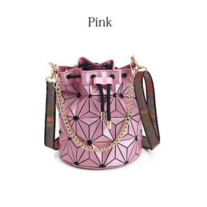 Последнего Ковши сумка сумки кошелек высокого качества Геометрической сумки Plaid цепь плечо Crossbody сумка Лазерная Алмазная сумка