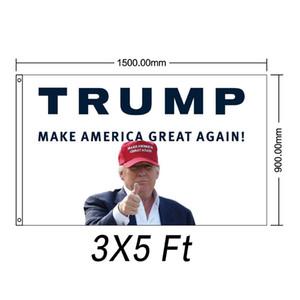 Filimino Keep America Große Flag - Präsident Donald Trump 2020 Flag klare Farbe und UV-lichtbeständig 3x5 Füße mit Tüllen Doppel St