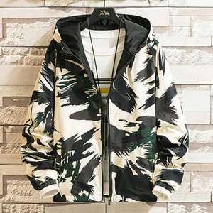 Men's Autumn Spring Casual Fashion Camouflage Hoodies Outwear Tops Coat Slim Fit Coats Male Jacket Mens loose Overcoat