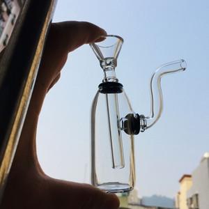 4.2 بوصة البسيطة بونغ سميكة dab تلاعب فقاعات الزجاج النفط الموقد الزجاج downstem أنابيب المياه الصغيرة إعادة تدوير المياه بيركس التبغ بونغس