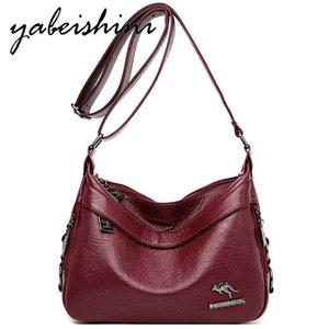 YABEISHINI женщины Наплечные сумки Кожа Crossbody сумка сумки женские сумки Элегантные дамы Сумка Мешком Главная