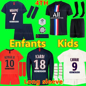 NEYMAR MBAPPE ICARDI MAILLOTS DE FOOTBALL PSG JORDAN 19 20 soccer jersey de la survêtement psg 2020 maillot de foot Paris saint germain Champion kids kit chemise PSG enfant SETS