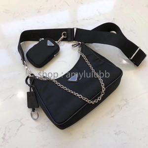 lona impermeable bolsa de hombro cadenas deisigner para las mujeres en el pecho paquete de la señora totalizador del bolso de los bolsos del diseñador bolsa de mensajero monedero presbicia