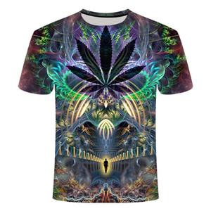 Yeni Yaz Stili Erkek Tişört Renkli Galaxy Uzay Psychedelic Çiçek 3D Casual Tees Tops Kadın / Erkek T Shirt Kalça Hop yazdır
