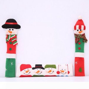 Christmas Refrigerator Door fridge knob Microwave Oven snowman Kitchen Appliance Handle Covers Set of 3 free shipping