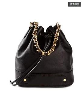 2019 дизайнера Кроссбоди сумка сумка повелительница маленькая плечо диагонального кожаный мешок ведро мешок дизайнер Бао Tide Baitao черный YLF
