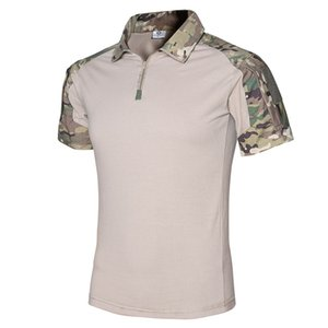 Outdoor Hiking Camping T-Shirts US Army Combat Frog Suit Sports Camouflage Top Tees Tactical Student Training Uniform