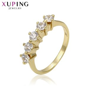 Xuping Elegant Ring Charm Style Ring for Girl Light Yellow Gold Color Plated Rings Jewelry Gift for Christmas S64-8-14349