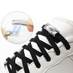 Verrouillage élastique plat magnétique Lacets unisexe Lacets Cordes Creative No Tie Lacets Fit Toutes les chaussures Partie 2 WJ024