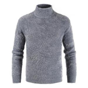 Mens Turtleneck camisola de malha Cashmere Lã Inverno Sweater Men manga comprida Warmer Casual inferior Man Pullover