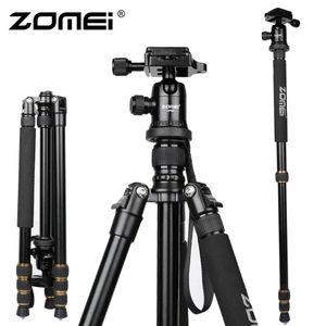 Zomei Camera Tripod Professionale Viaggio fotografico Alluminio compatto Stabile pesante Treppiede Monopiede Testa a sfera per fotocamera digitale DSLR Z688 BA