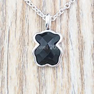 Autêntica prata esterlina 925 pingentes de prata colar de cor Urso único europeu urso urso Estilo da jóia presente 115434540