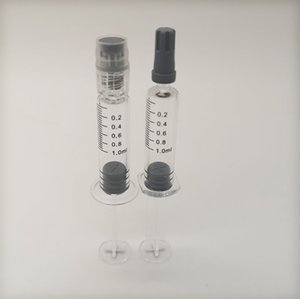 0.8ml 1ml Luer Lock injuector Glass e cigarette Filling Tool Pyrex Syringe Borosilicate For 510 Cartridges e-Cig Accessories