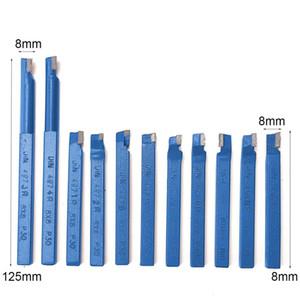 Freeshipping 11pcs металла Carbide токарный станок с ЧПУ Инструменты Карбид Паяные Tipped Cutter инструмент Bit Cutting Набор комплекты Сварка Turning держатель инструмента