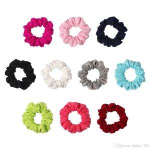 10colors Solid Knit Capelli Elastici Scrunchie Hairbands Scrunchy Fascia Banda Ponytail Holder Ragazze Accessori Principessa Accessori Per Capelli Bambino