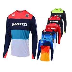 2020 Hızlı Kuru Motosiklet Yarışı Uzun Kollu Jersey SRAM Erkekler Takım Motosiklet Crossmax Giyim Enduro İniş Jersey Bisiklet