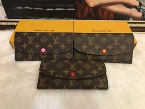 Wholesale 9 colors fashion single zipper pocke designer men women leather wallet lady ladies long purse with orange box card