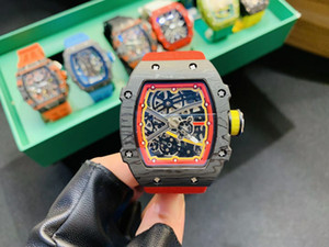 2020 Новая мода мастер роскошные мужские часы RM67-02 RM27-01 RM35-02 ажурный скелет циферблат классический черный красный механизм с автоподзаводом мужские часы