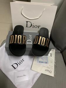 Новые дизайнерские сандалии повелительниц вскользь, черные и белые, дизайнерские тапочки