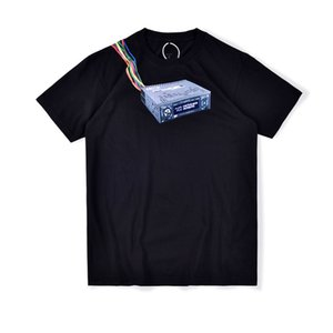 2020 Ins calda primavera-estate del progettista della maglietta americano Travis Scott JACKBOYS macchina del gioco Tee Skateboard Mens donne di strada casuali Tshirt