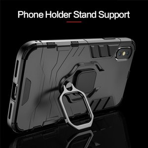 Luxury Armor Holder Phone Case For IPhone X XR XSMax TPU Anti-knock Full Cover For Iphone 11Pro 876 Metal Ring Bracket Case