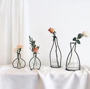 Criativa Ferro Vaso plantador cremalheira Vasos prateleira de adubação Potes Organizador Decoração Acessórios 5pcs