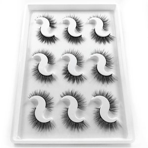 Silk Eyelashes Multi-layered Effect Natural Look Faux Mink Lashes for Girls 9 Pair Pack