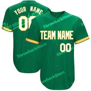 Personalizado Baseball Jerseys Qualquer Número Número Barato Bordado Verde Jersey Produtos de Alta Qualidade Diretamente Frete Grátis