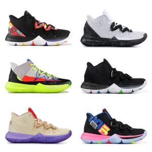 5 s basketbol ayakkabıları yeni 5 2019 erkek spor ayakkabı siyah kırmızı sarı erkekler eğitmenler kutusu ile gelişmiş versiyonu