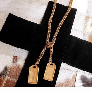Have stamps Fashion brand designer necklace belts Womens mens 14k gold chains Party Wedding Lovers gift engagement Luxury Jewelry for Bride
