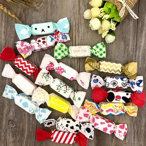 50pcs / set Cute Cartoon Nougat Wrapping Paper Candy Bag Cookie Gift Box Party Wedding Xmas Decoration 12.5 * 9cm