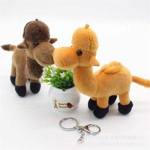 Camello del desierto Animal muñecas 14CM Llavero juguetes de peluche de alta calidad PP algodón de los niños juguetes de peluche colgante de enviar de regalo de los niños
